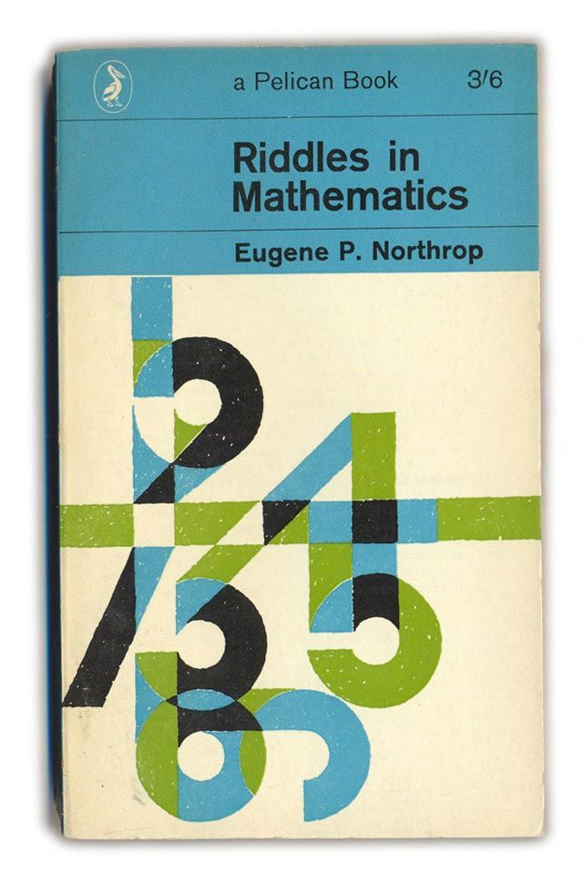 Typographic Book Cover Question ~ Riddles in mathematics typographic book covers