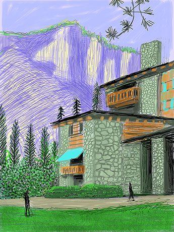 Yosemite Suite : Digital : Works | David Hockney