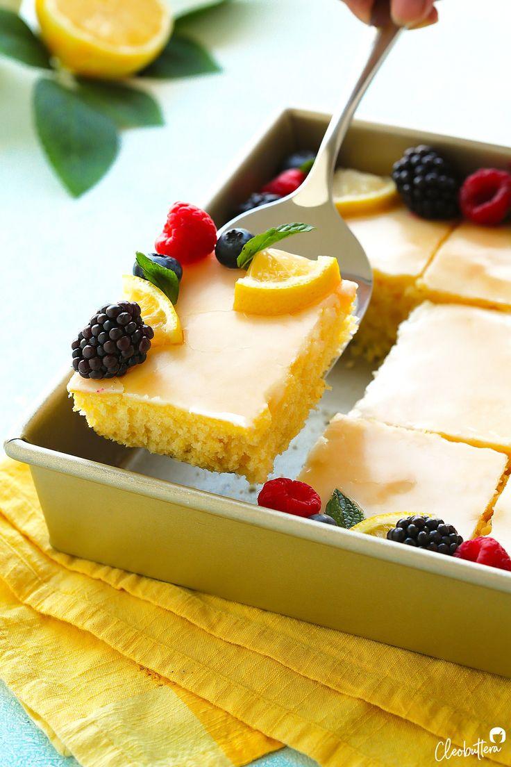 Der zitronigste Zitronenblattkuchen   – Desserts
