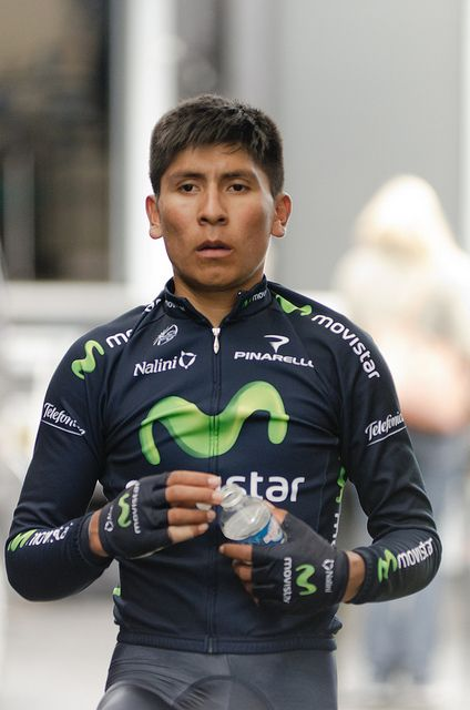 Nario Quintana, warm up before TT