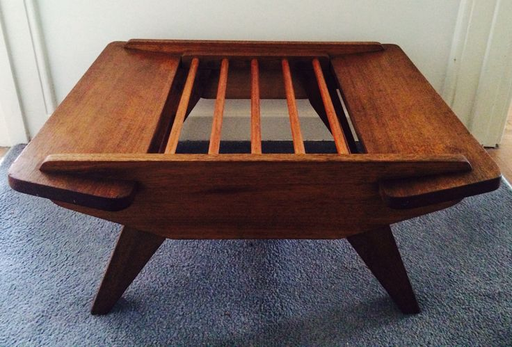 Timber-Pack Furniture design No:27, ottoman designed by Fred Ward c.1952.