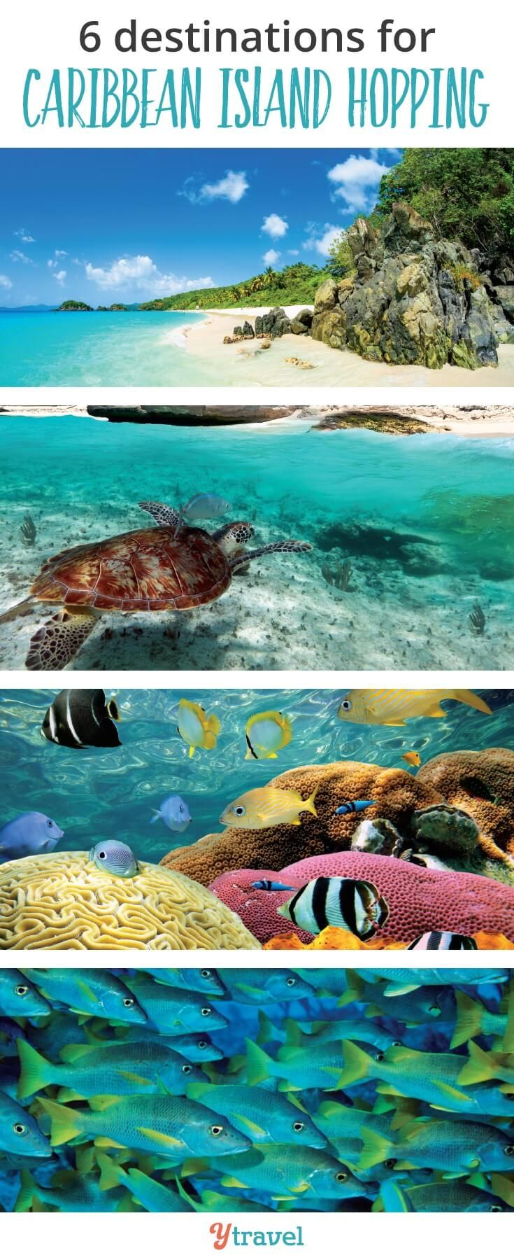 There are so many Caribbean Islands to explore. Here are the best destinations for Caribbean Island Hopping. Go find those turtles and have some fun. #caribbean #Caribbeanislands #islandhopping