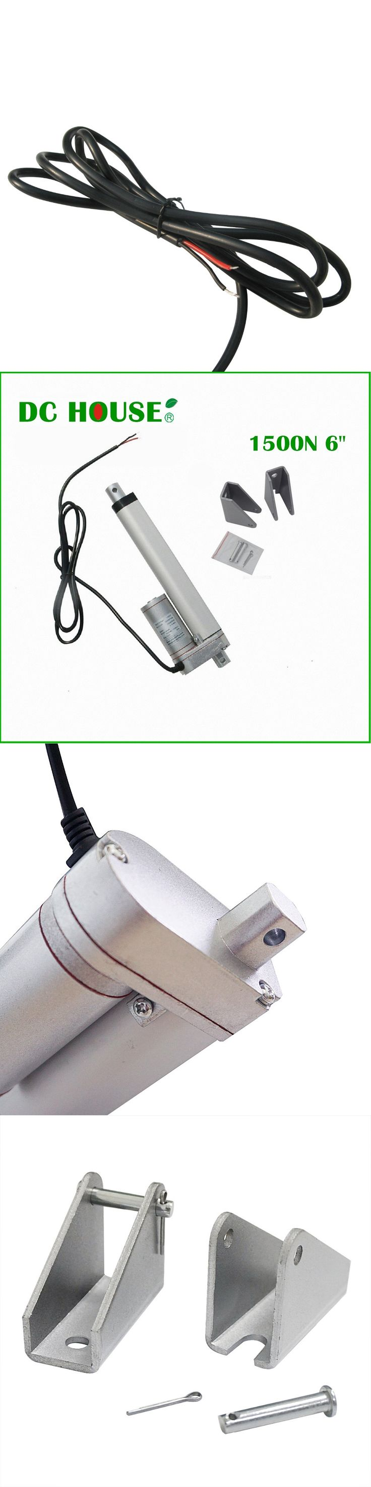 DC HOUSE 6inch 12V 5.7mm/s Solar Tracker 150mm 15000N  Linear Actuator multi-purpose Linear Actuator &  Mounting Brackets