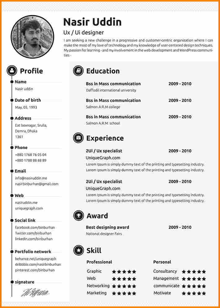 Cv Template 2018 2 Cv Template Pinterest Curriculum