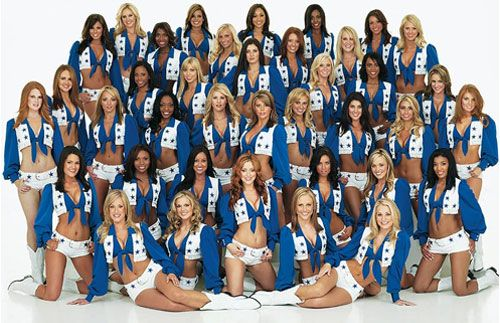 The first cheerleader dance team in the NFL