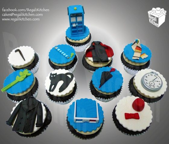 Doctor Who cupcakes are so cute!
