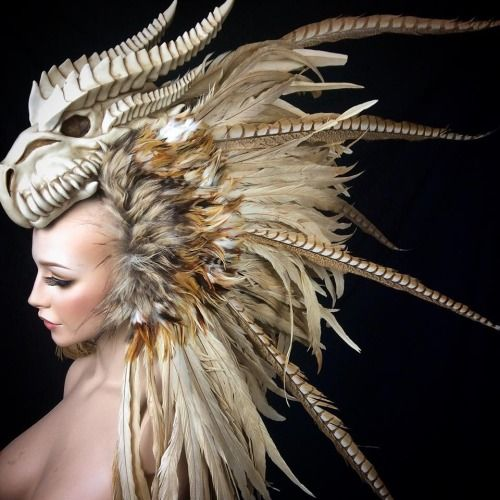 dark fairytale headdress horns - Google Search