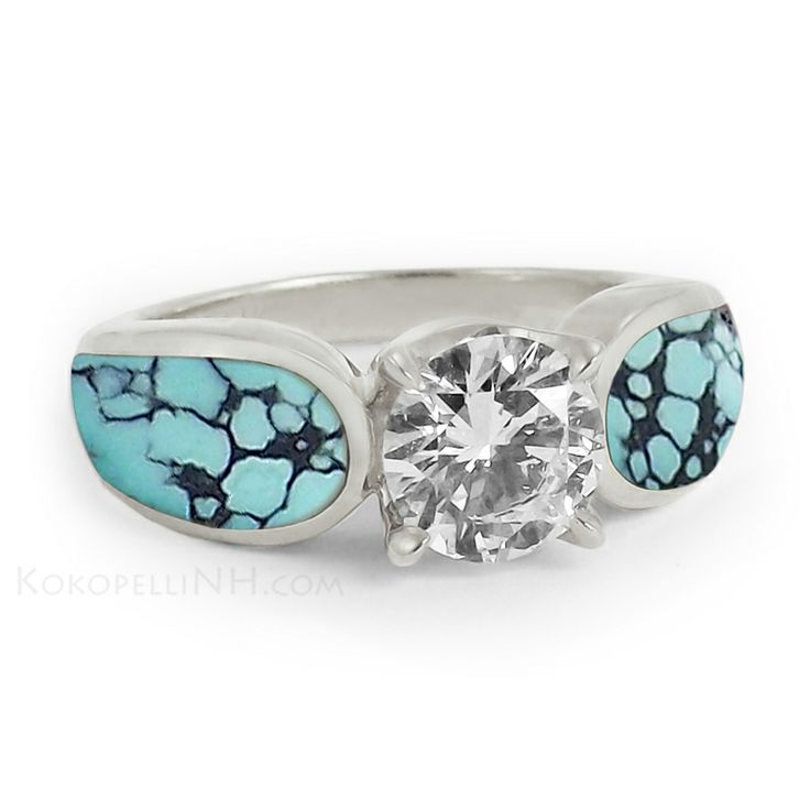 22 nice turquoise and diamond wedding rings navokalcom With turquoise diamond wedding rings