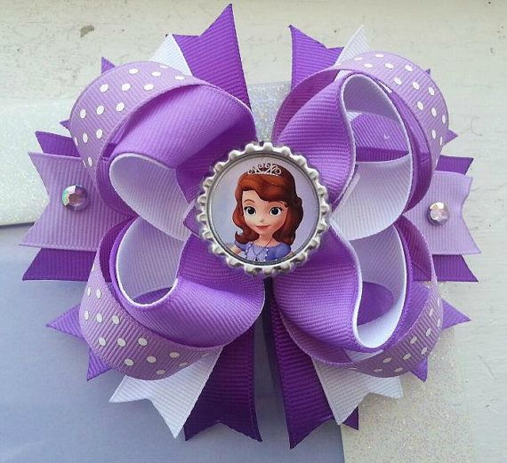 Sofia the First Hair Bow Sofia the First by DLovelyBOWtique, $9.99