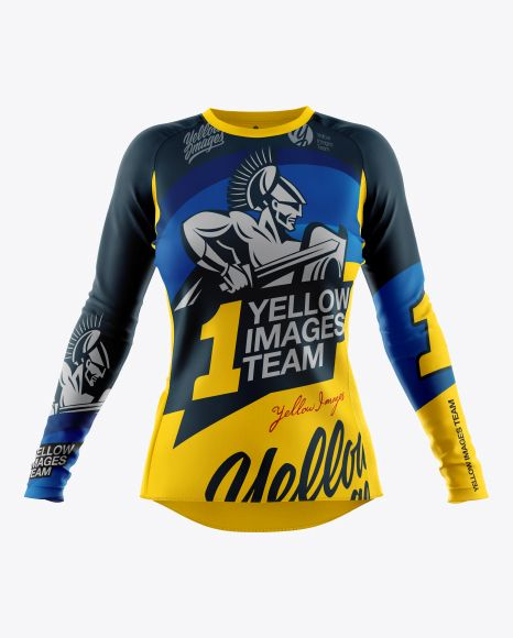 Download Women S Cycling Jersey Mockup Front View In Apparel Mockups On Yellow Images Object Mockups Clothing Mockup Design Mockup Free Shirt Mockup