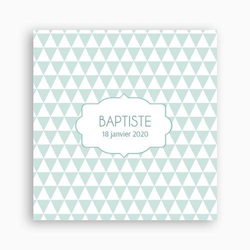 Faire-Part Naissance Garçon - Triangles bleus 40462