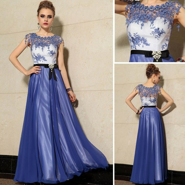 25 best Blue Evening Gowns images on Pinterest | Ballkleider ...