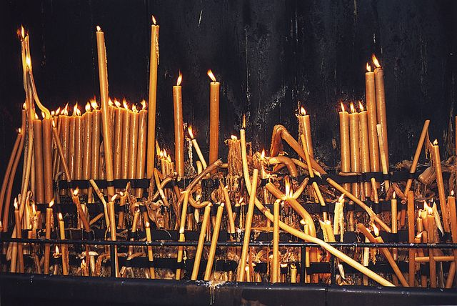 Fatima candles. Portugal by Nan Goldin