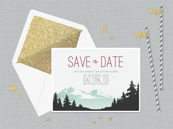 The Gemma Save Date Card Vintage Invitation By Proteapress