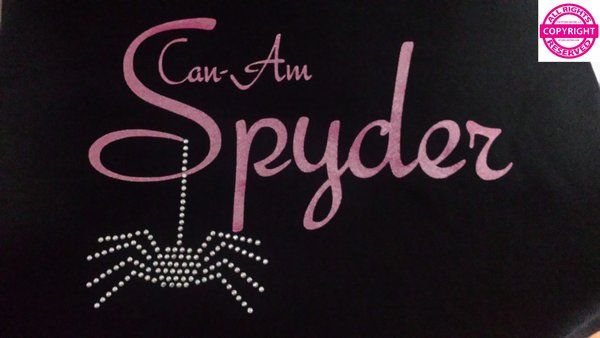Can Am Spyder Glitter and Rhinestone Spider Shirt 5 colors