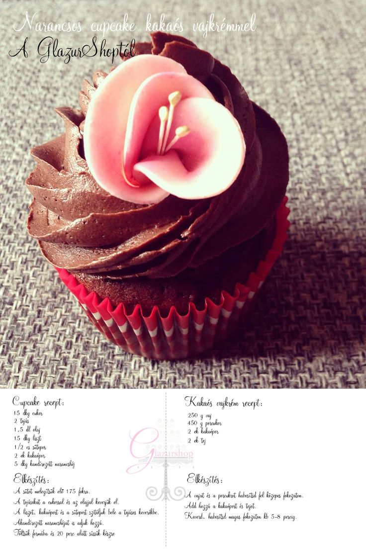 Narancsos kakaós cupcake és kakaós vajkrém recept #cupcake