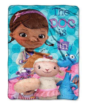 Another great find on #zulily! Doc McStuffins 'The Doc Is In' Throw Blanket by The Northwest Company #zulilyfinds