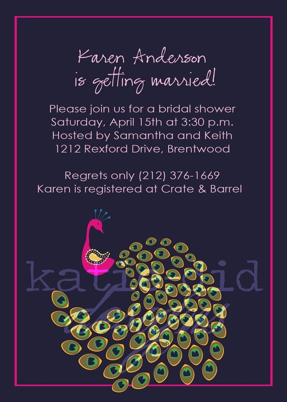 peacock bridal shower invitations purple couples coed high for peacock themed wedding shower invitations