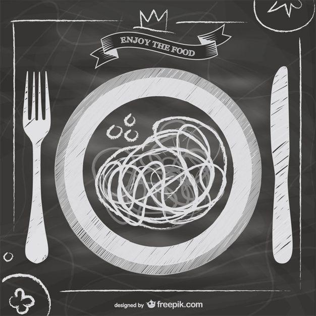 Lousa vetor menu de comida italiana Vetor grátis