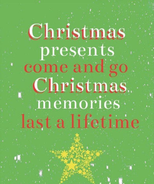 Christmas Memories - Last longer than presents!