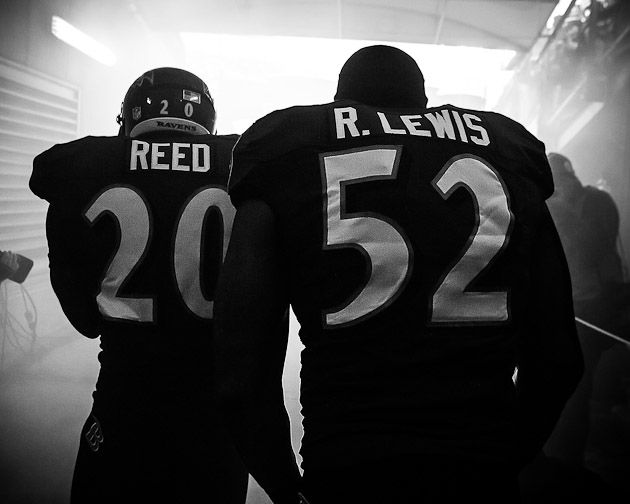 Ed Reed  Ray Lewis in the tunnel, the biggest thing that will be missing this season,,,,