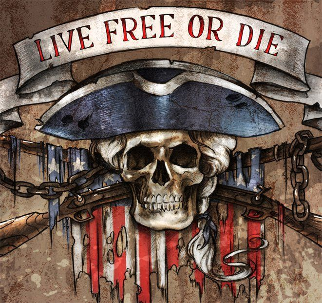 live free or die skull tattoo designs pinterest live