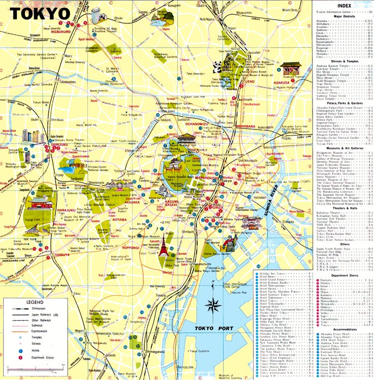 Tokyo Map Tourist Attractions - http://travelquaz.com/tokyo-map-tourist-attractions.html