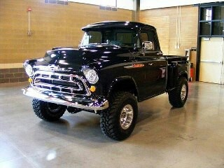 57 chevy 4x4: I think my dad drove something very similar when I was a kid.