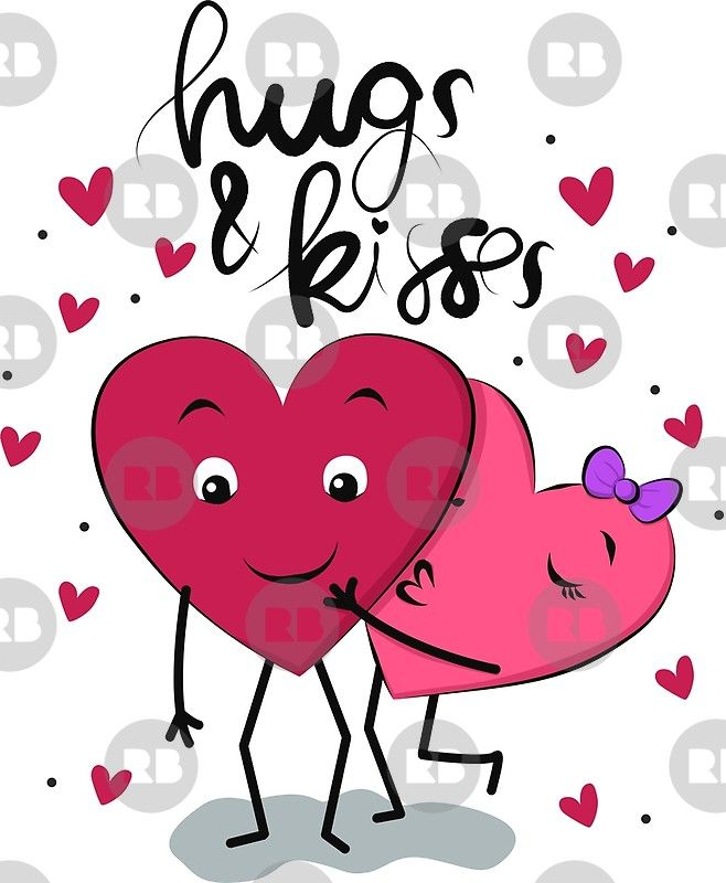 Hugs and Kisses\' Canvas Print by NicholiCosplay | Love ...