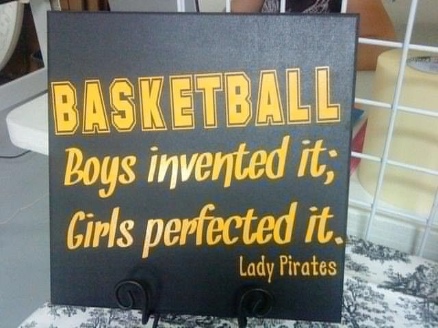 Personalized Girl's Basketball Sign. $27.50, via Etsy.