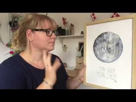 Watercolor moon workshop - YouTube