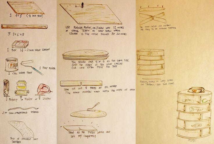 lazy susan shoe rack plans