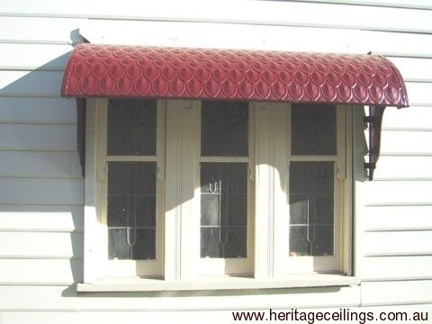 The panels can be curved to suit various projects. The galvanized steel version has been used in this awning project in Fremantle.