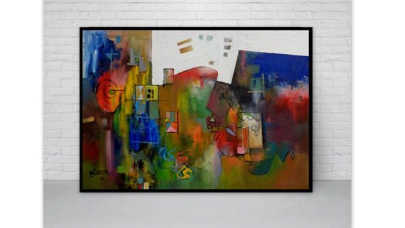 Modern Abstract Landscape By Constantin by PaintingsGalceava