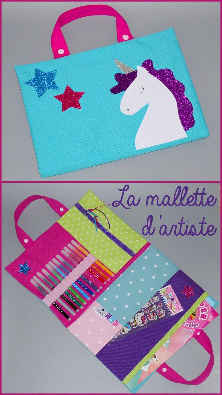 Les 13 meilleures images du tableau sacoche d 39 artiste for Mallette couture enfant