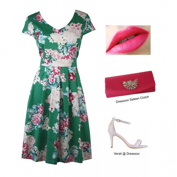 Hisan Romantic Rose Day Dress