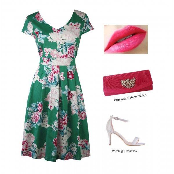 Hisan Romantic Rose Day Dress