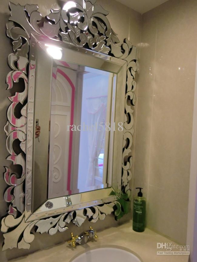 Pin by audrey on home accents pinterest for Glass mirrors for bathrooms