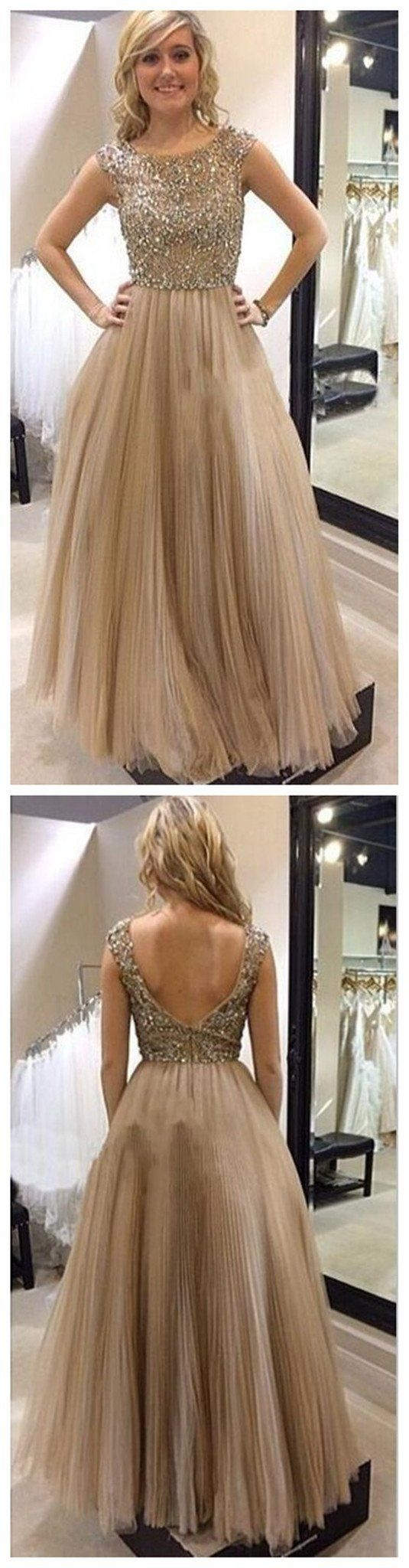 Tulle Open Back Fashion Charming Newest Evening Long Prom Dresses Online,PD0135 #sposabridal.com #promdresses #prom #party