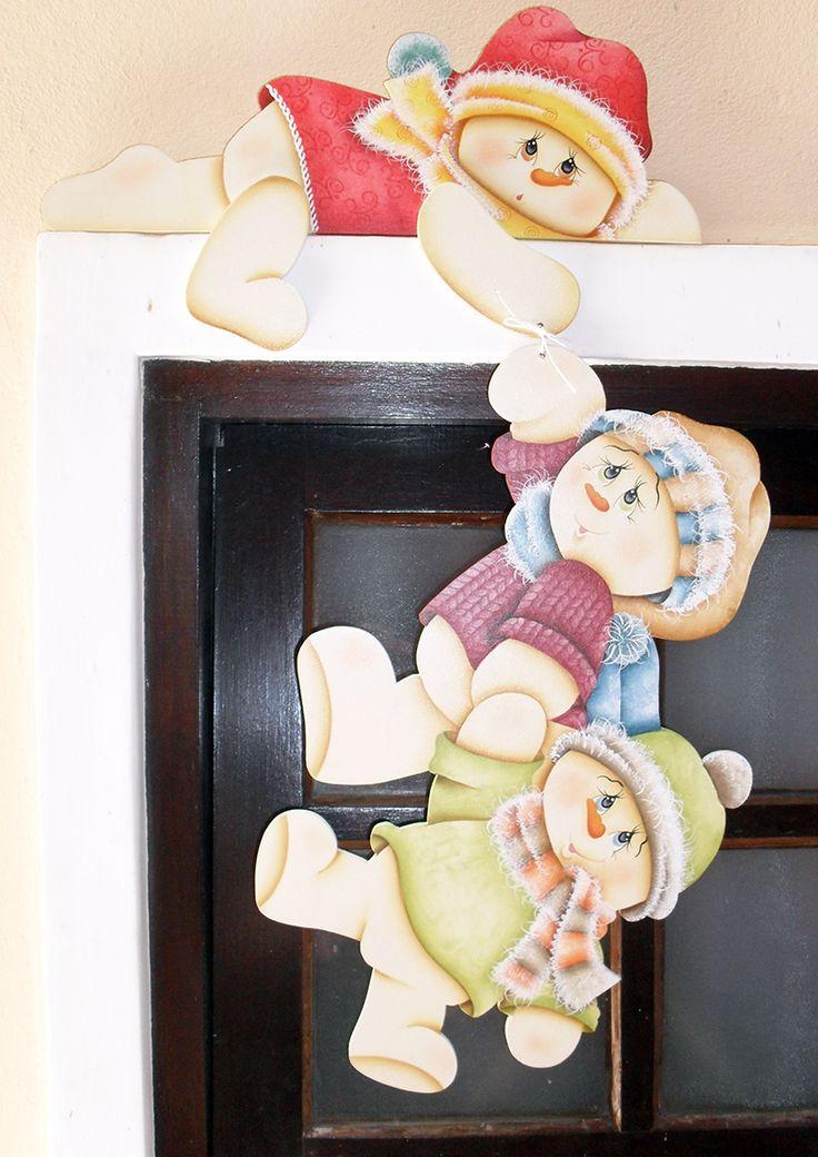 Eliane Artesanato: Bonecos de neve para batente (Elizana)