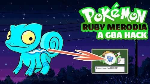 http://www.pokemoner.com/2018/01/pokemon-ruby-merodia.html Pokemon Ruby Merodia  Name: Pokemon Ruby Merodia Remake from: Pokemon Ruby version Remake by: MrSmash278 Source: Click here! Description: Features: This Rom includes fakemon! - Fakemon - 3 Starters until its 2nd evolution  - Change of the poochyena attacking Professor Byrch  - Poochyena Zigzagoon Wingull and Wurmple replaced both until their 2nd evolution  Screenshots:  Gameplay:  Download: Download Pokemon Ruby Merodia Beta 1
