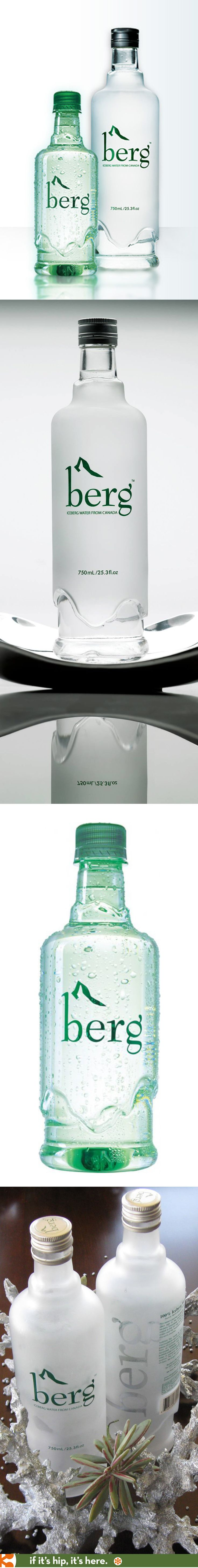 Both the frosted glass and the PET bottle designs for Canada's Berg Water are beautiful.
