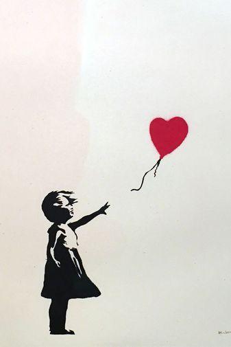 Banksy, «Girl with Balloon», 2004.                                                                                                                                                      More – Saskia Reimann