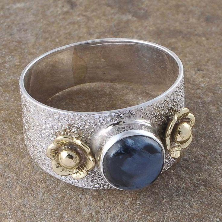 925 SOLID SILVER NATURAL PIETERSITE GEMSTONE LADIES 3.75g RING JEWEELLERY R01167 #Handmade #Ring