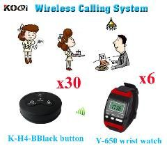 [ $101 OFF ] Wireless Electronic Voting System Top Popular Different Types Of Buzzers ( 6Pcs Wrist Watch+ 30Pcs Call Button)
