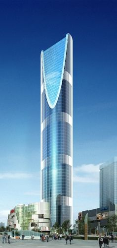 Longement Center Towers, Chengdu, China by HS Architects :: 2 x 67 floors, height 2 x 298m