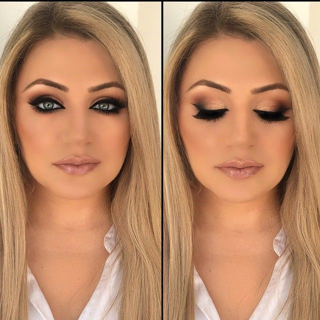 Smokey Eye Makeup For Blue Eyes Blonde Hair