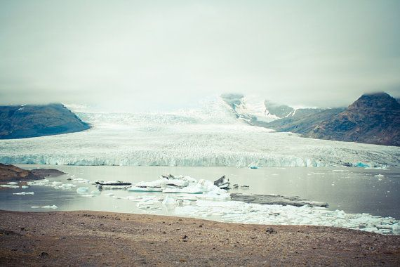 "Landscape photography, Iceland glacier, Iceberg poster, Landscape art print, Nordic, Jokulsarlon lake, Scandinavia, 12"" x 8"", 30 cm x 20 cm"