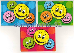 12 Mini SMILEY HAPPY FACE Jigsaws Puzzles - Party Bag Toys/Fillers/Favours | eBay