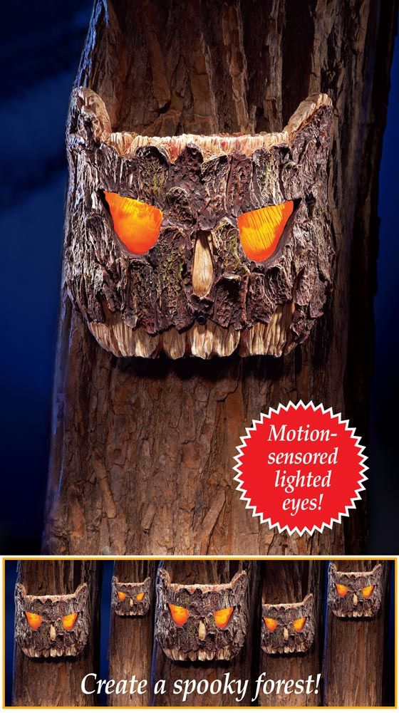 Halloween Decoration Motion Activated Tree Eyes Halloween Halloween Outdoor Decorations